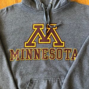 MINNESOTA Grey Hooded Sweatshirt Size S